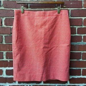 J Crew Pencil Skirt Size 8 Orange White New